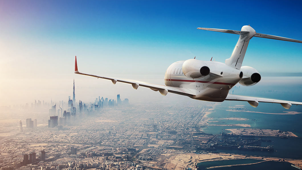 private-jet-flying